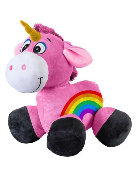 INFLATE-A-MALS Peluche gonflable Licorne chevauchable 45cm - Ultra résistante