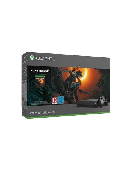 Consoles Xbox One Microsoft XBOX ONE X + SHADOW OF TOMB RAIDER