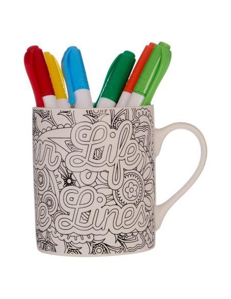 Mug Personnalisable À Colorier