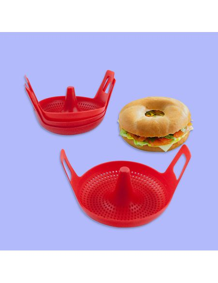 4 Moules Silicone Pour Bagel
