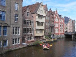 Teambuilding Raft fotozoektocht in het historische centrum van Gent Foto1