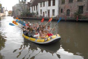 Teambuilding Raft fotozoektocht in het historische centrum van Gent Foto2