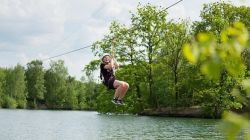 kinderen Center Parcs Vossemeren Super Zip Wire B2B