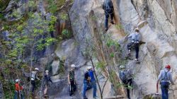 kinderen Yourout.be Via ferrata in de Ardennen