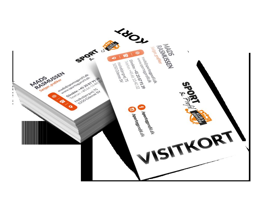 Visitkort i næsten alle oplag - super billigt og flot tryk.