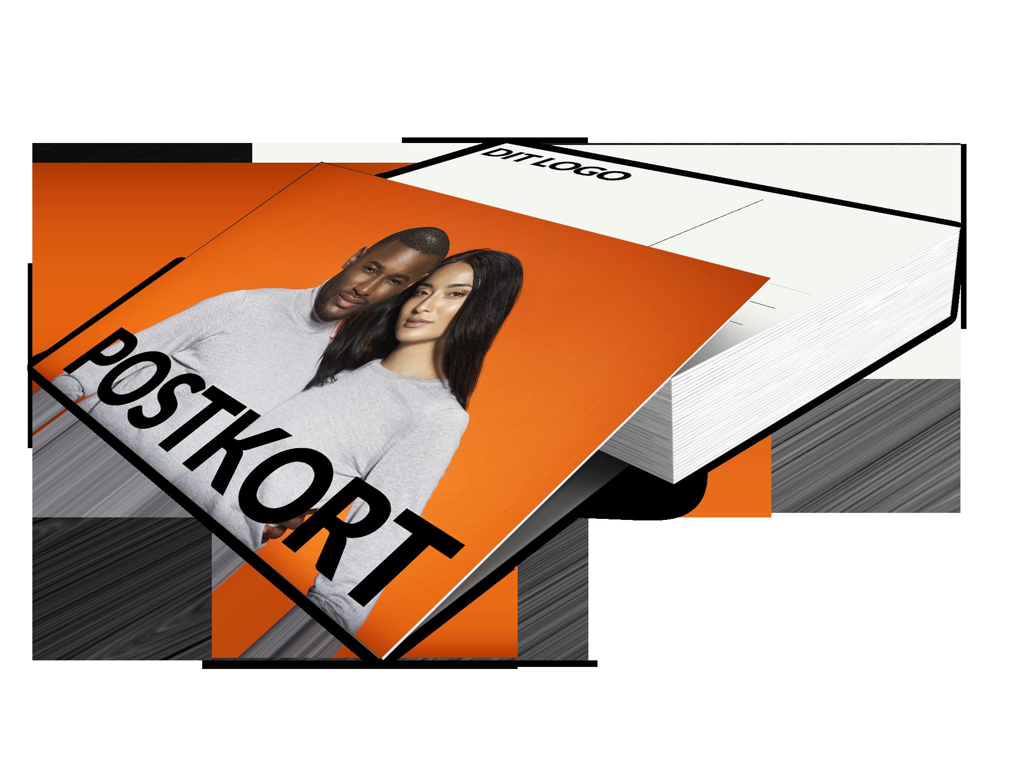 Send et postkort med eget motiv eller tryk, eller print. flot tryk på Almindeligt postkortpapir