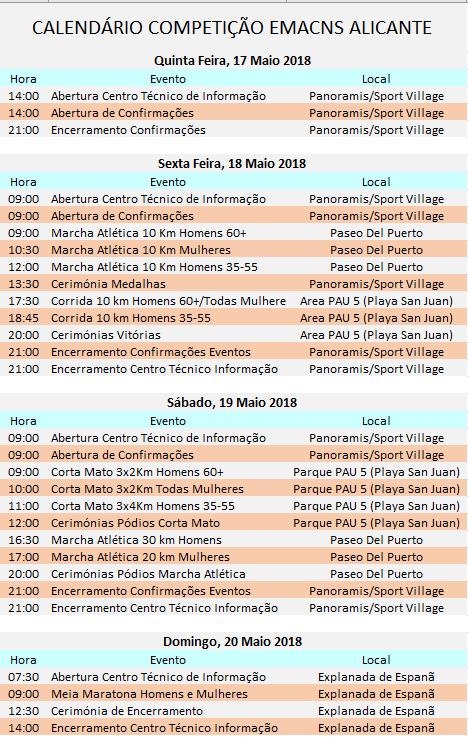 Calendário Competitivo