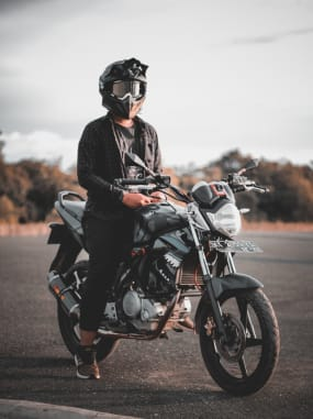 What should I look for when buying a motorcycle helmet