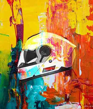 painting motorcycle helmet