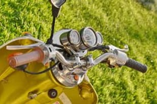 Free picture: gauge, moped, motorcycle, nostalgia, speedometer, steering  wheel, vehicle, sport, wheel, equipment