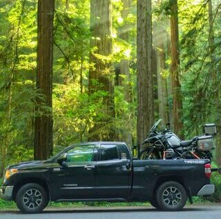 How to transport a motorcycle in a pickup truck
