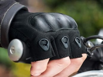 fingerless leather motorcycle gloves