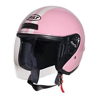 CUSTOM BILT Women's Roadster Retro - Pink Open Face Motorcycle Helmet
