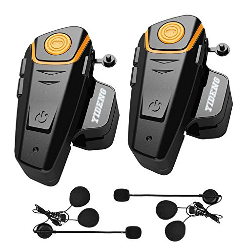 Yideng Bluetooth Headset Intercom - Waterproof Motorcycle Bluetooth Headset