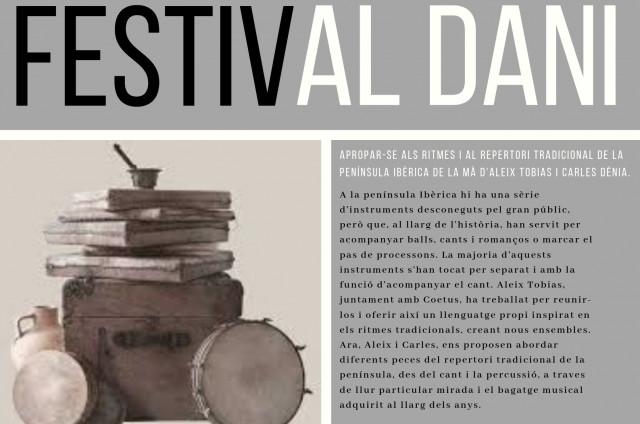 FESTIVAL AL DANI IV edició. TALLERS DE PERCUSSIÓ, CANT I CONJUNT