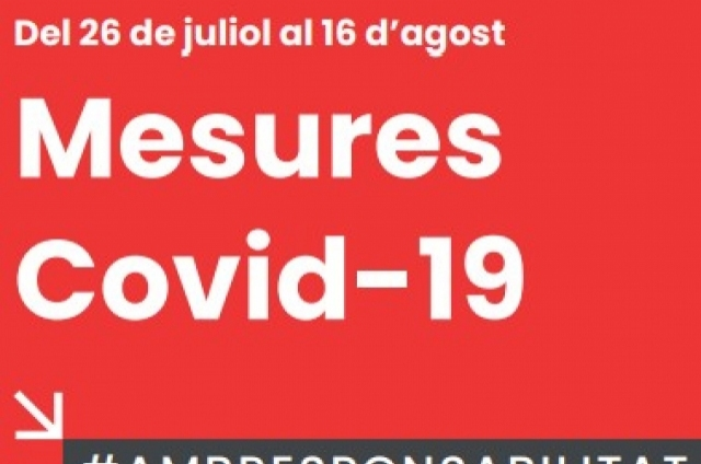 ACTUALITZACIÓ NOVES MESURES COVID-19 FINS EL 16 D'AGOST