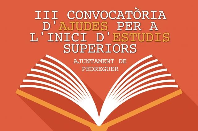 III AJUDES A L'INICI D'ESTUDIS SUPERIORS