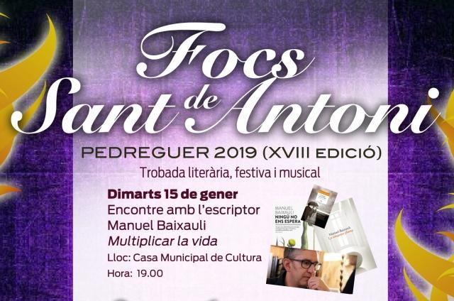FOCS DE SANT ANTONI 2019. Encontre amb l'escriptor Manuel Baixauli