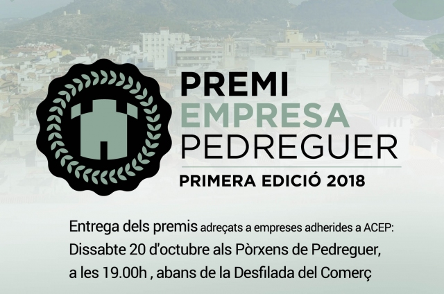 ENTREGA PREMI EMPRESA PEDREGUER 2018