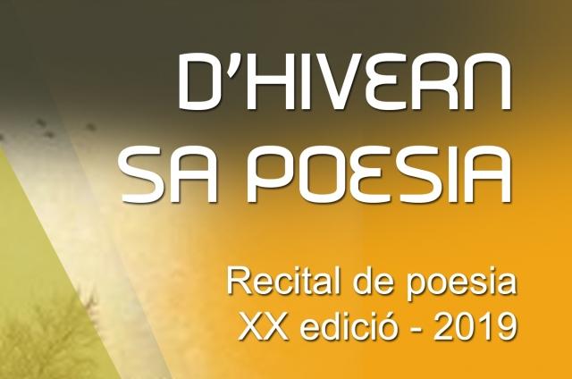 D'HIVERN SA POESIA. Recital de poesia   XX edició - 2019