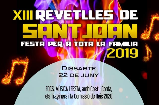 XIII REVETLLES DE SANT JOAN. Festa per a tota la família 2019