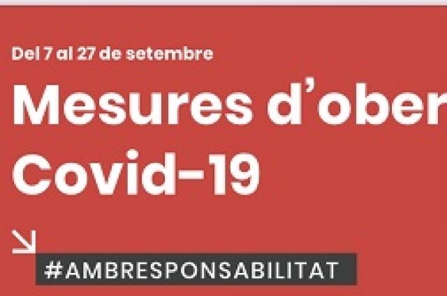 ACTUALITZACIÓ NOVES MESURES COVID-19 FINS EL 27 DE SETEMBRE