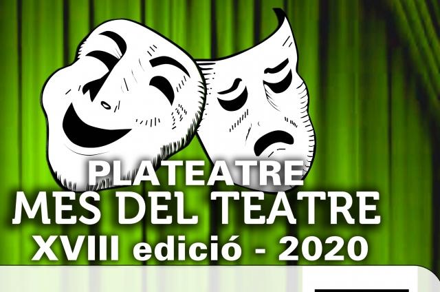 PLATEATRE. Mes del Teatre XVIII edició 2020