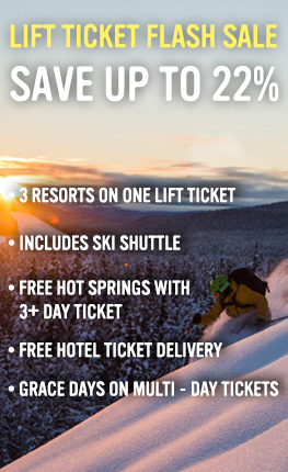 Lift ticket flash sale! Save up to 22%