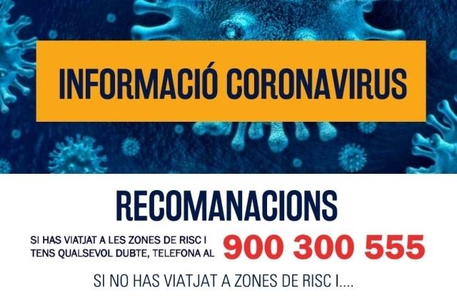 Recomanaciones del Ayuntamiento acerca del coronavirus (COVID-19)