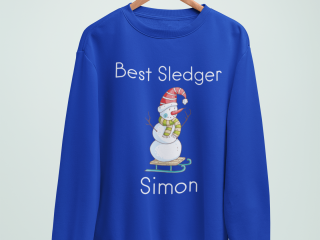 Personalised sweatshirt with winter design