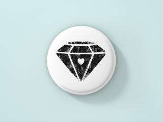 Selbstgestalteter Button als Geschenk zum Palentine