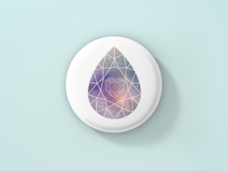 button with a customized design