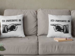 His and Hers custom pillow cases