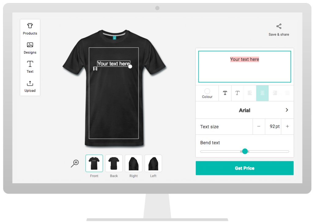 Design tool from Spreadshirt