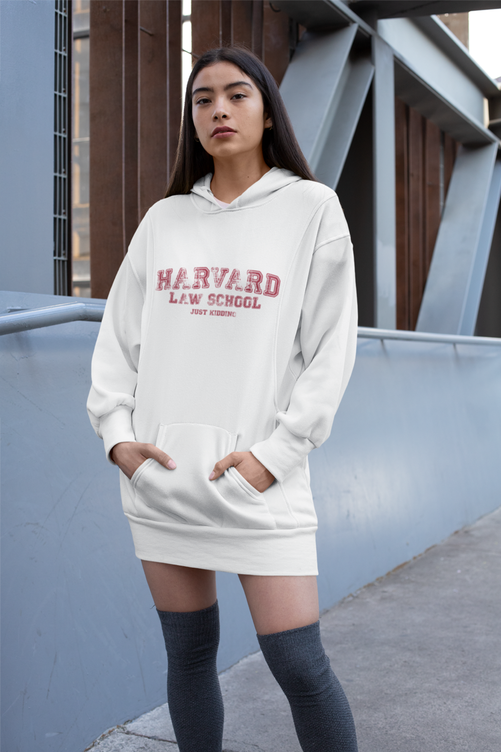 Girl with personalized hoodie