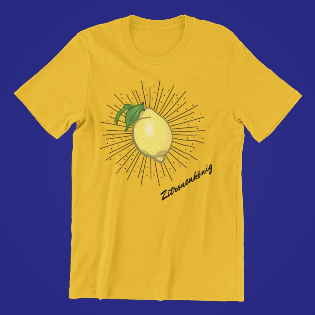 Gelbes T-Shirt mit selbst gestaltetem Design