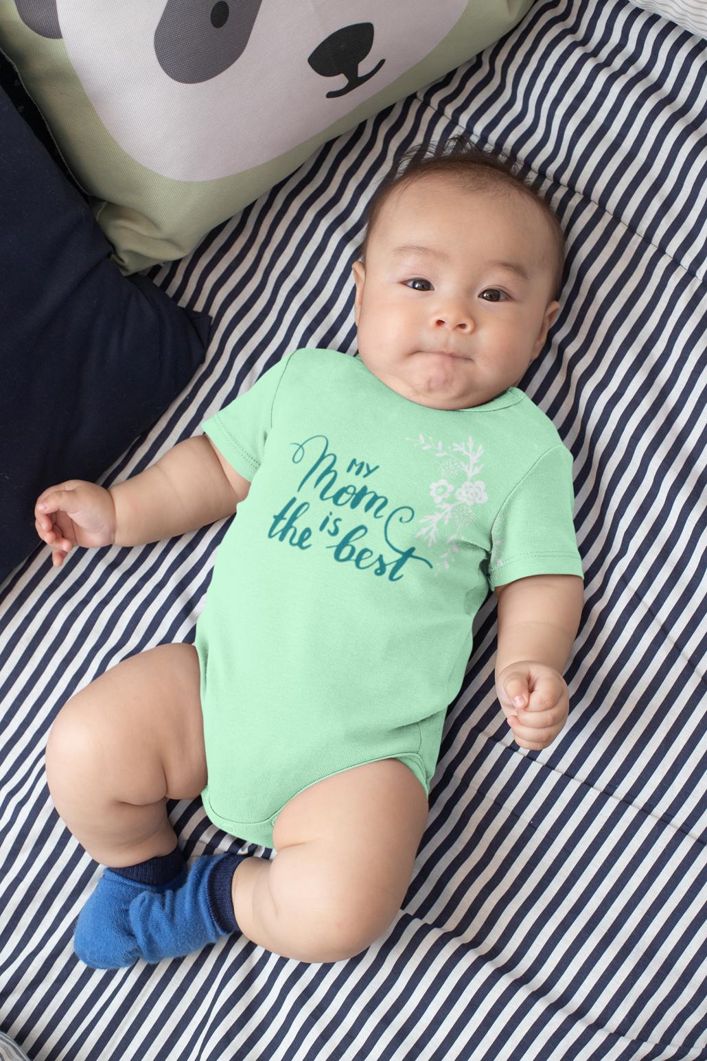baby in custom onesie