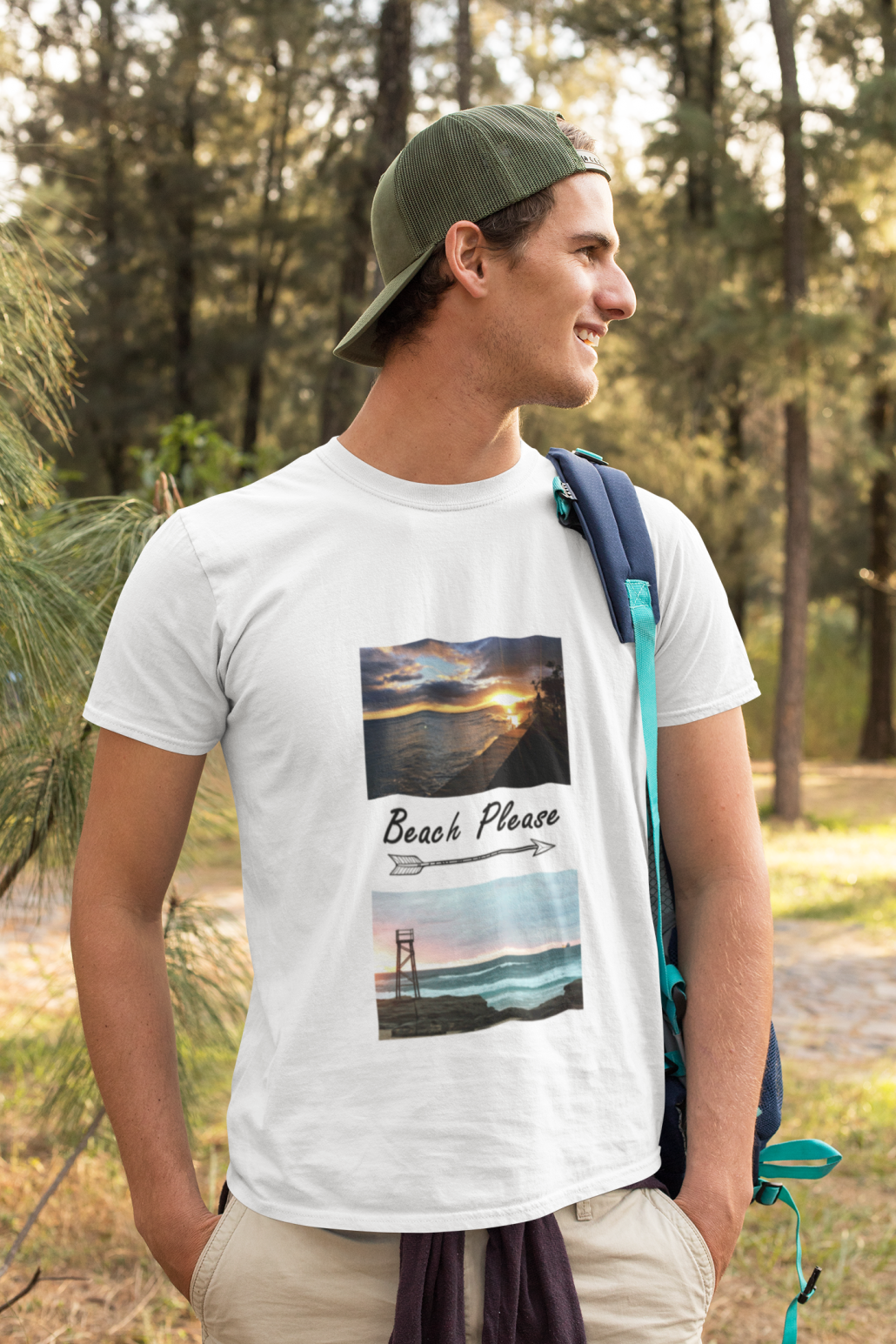 Men wearing a personalised T-Shirt