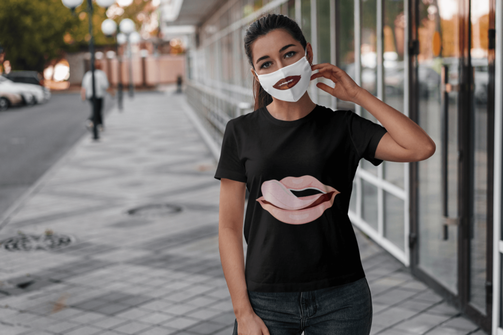 custom face-mask with matching t-shirt