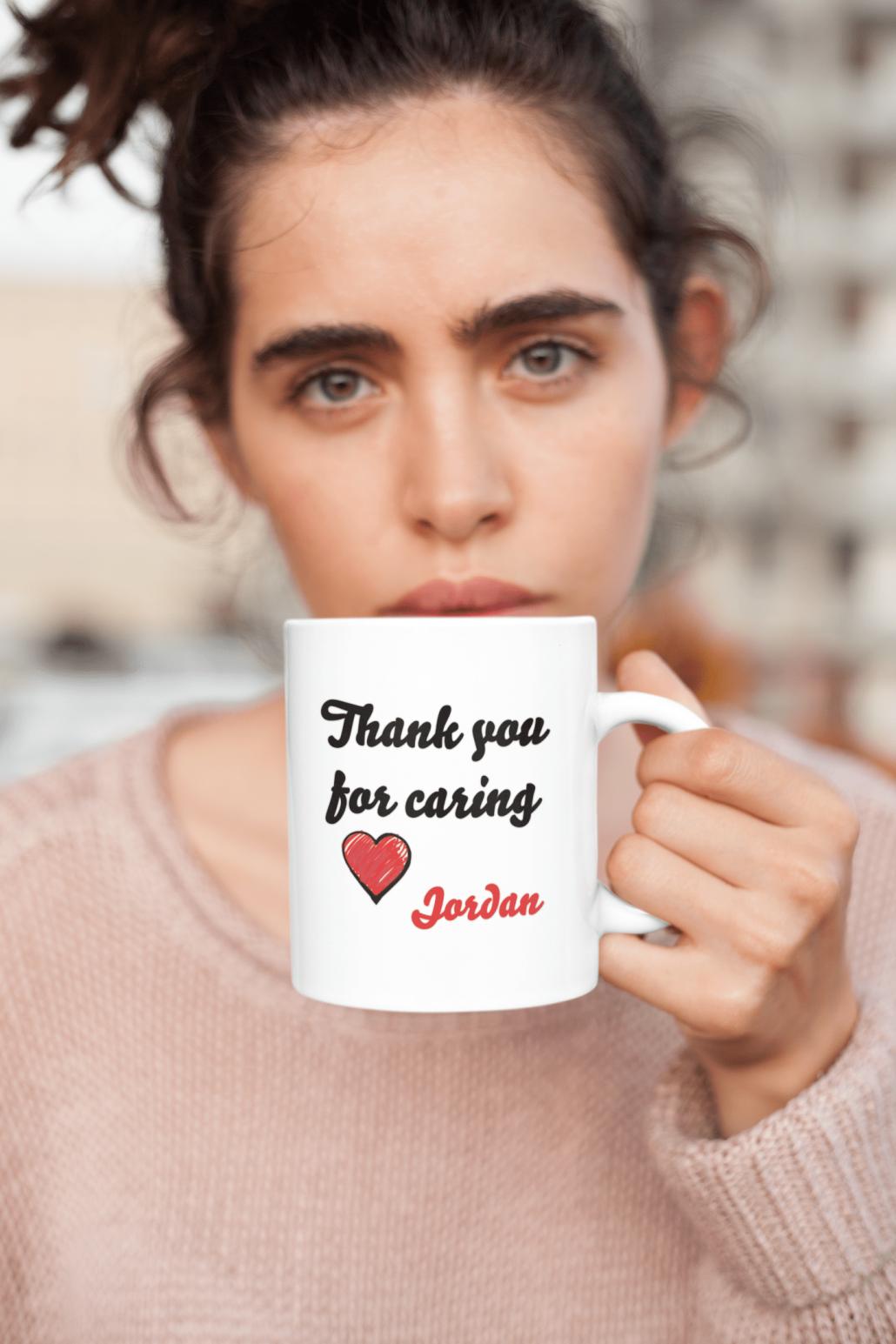 Girl with custom mug