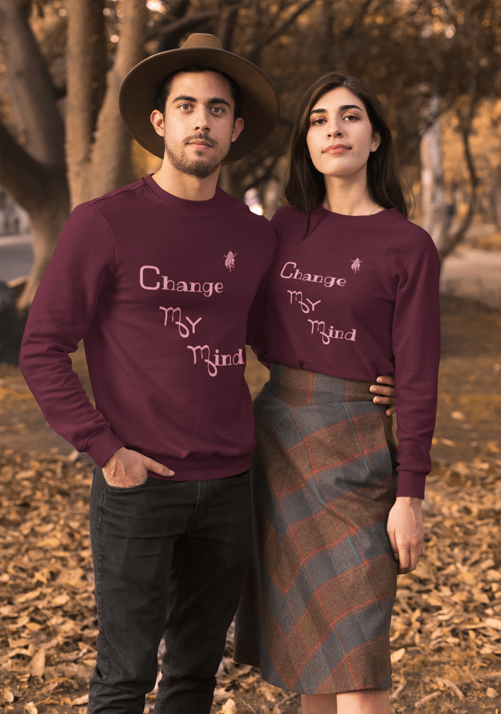 Matching virgo sweaters with guy and girl