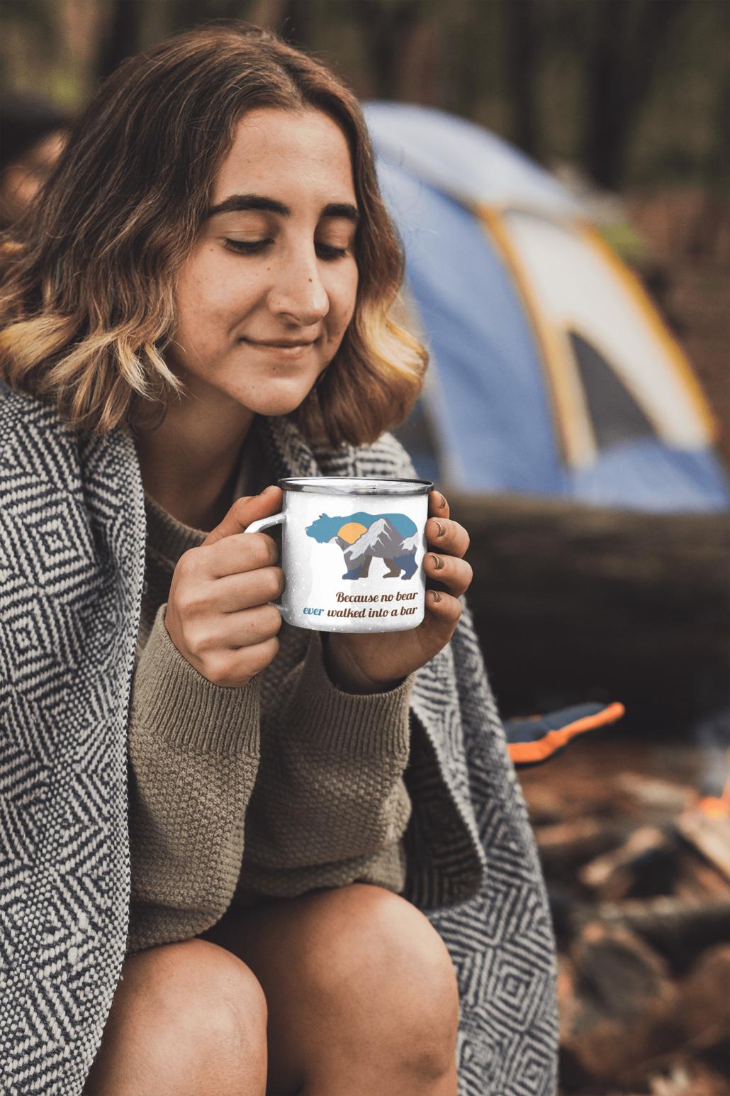 Camper Mug with bear and custom text
