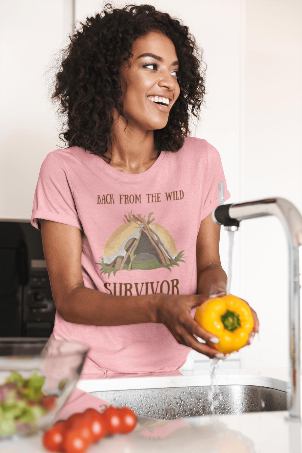 Women's T-shirt for outdoor survivors