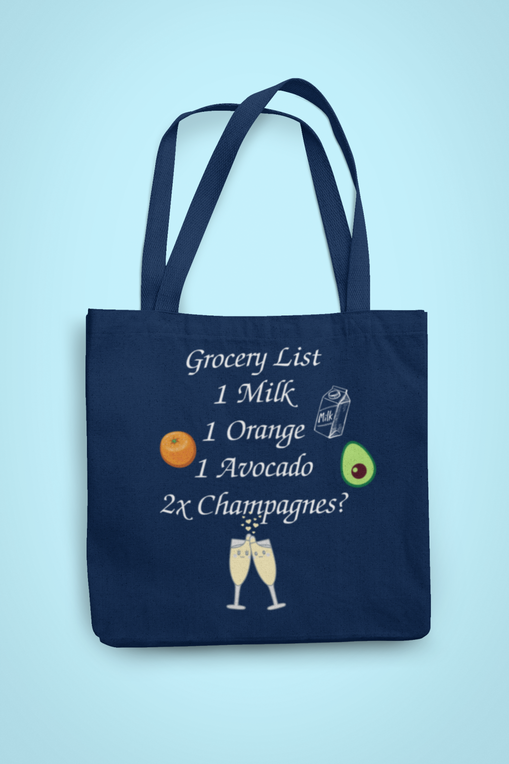 Custom shopping bag for singles