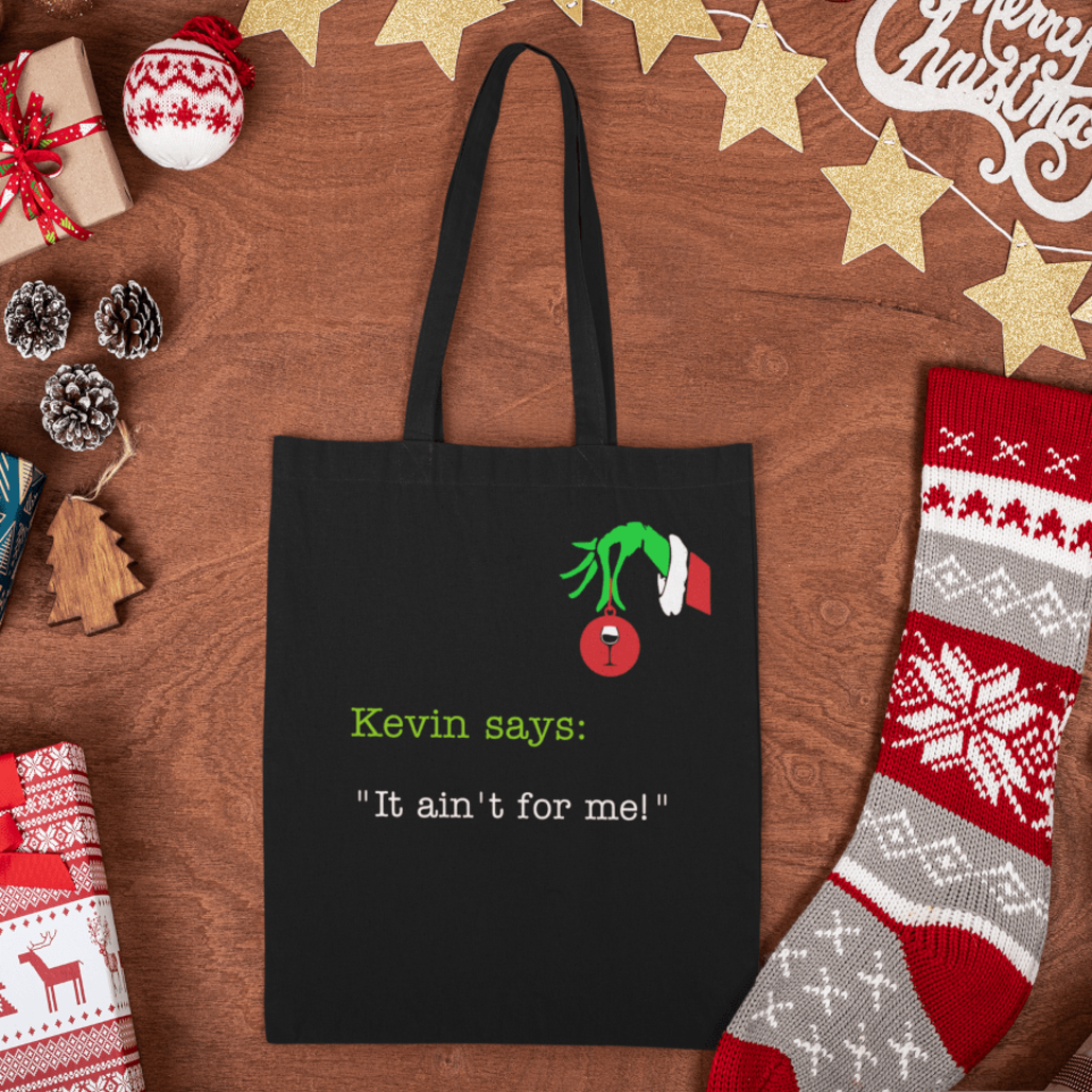 Custom tote bag with chrsitmas grinch