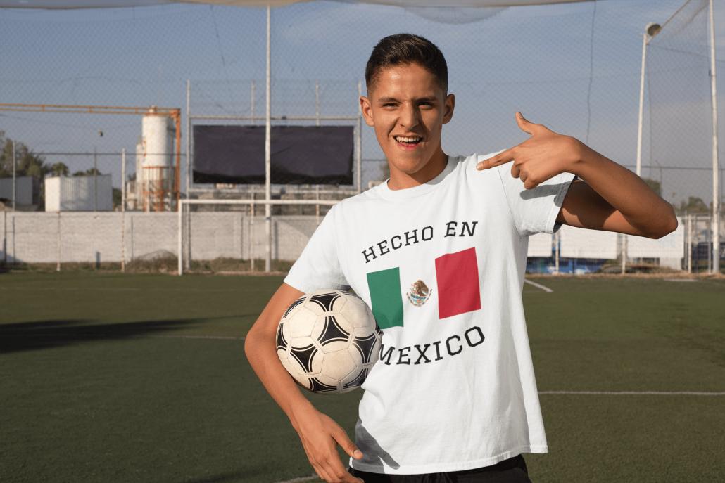 Guy wearing custom Mexico soccer shirt