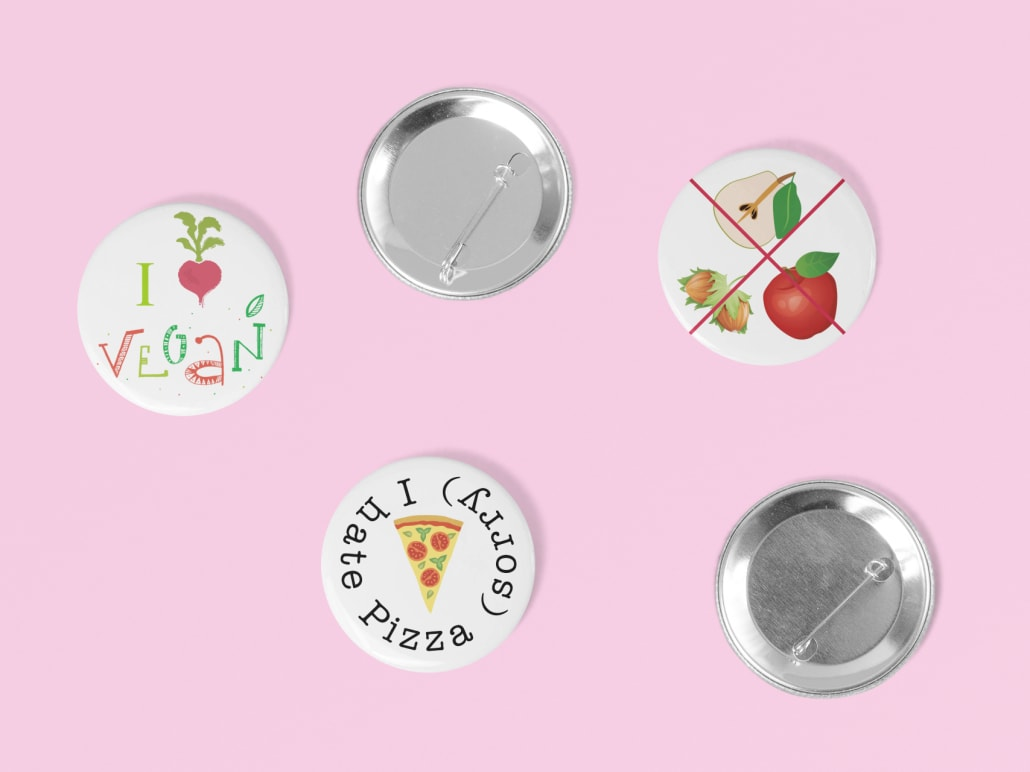 self designed buttons