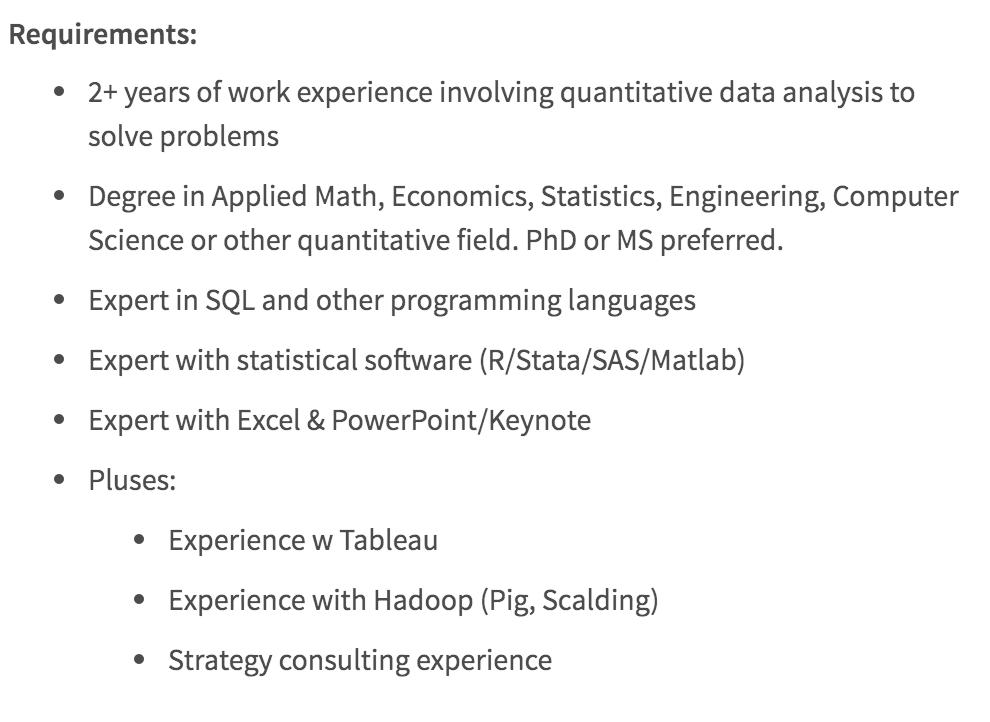 data scientist job description
