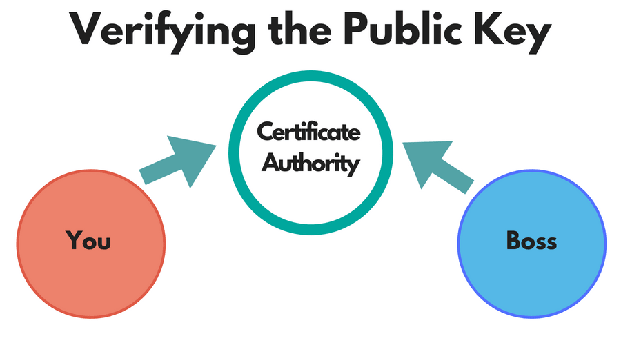 verifying the public key
