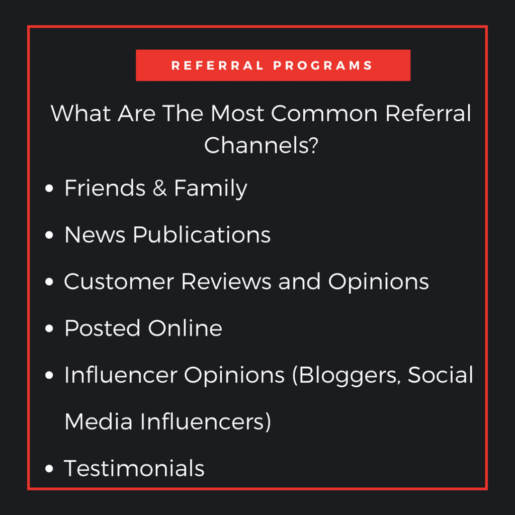 the most common referral marketing channels
